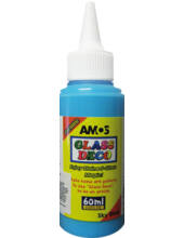 Üvegmatrica festék 60 ml Amos - égkék