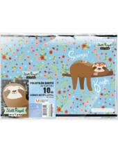 Füzetborító A5, 10 db - Lollipop Sloth Royal - lajháros
