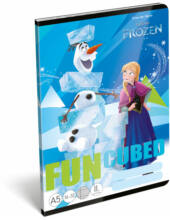 Vonalas A5 füzet - Jégvarázs Frozen Fun - 2. osztályos