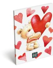Papírfedeles notesz A6 - Love Teddy