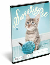 Vonalas A5 füzet - Pet Sweetie Pie Cicás - 2. osztályos