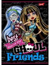 Vonalas füzet A5 - Monster High 3. osztály