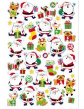 Karácsonyi matrica 14x21 cm - Télapó