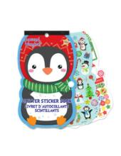 Karácsonyi matricás füzet több mint 250 matricával - Pingvin