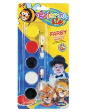 Colorino arcfestő készlet 5 színnel felvivő ecsettel