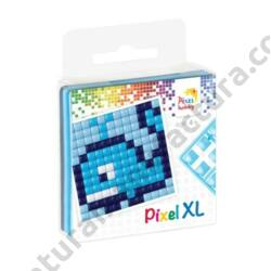 XL Pixel készlet, 4 XL színnel, bálna (6x6 cm)