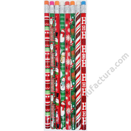 Karácsonyi grafitceruza radírvéggel HB