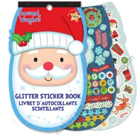 Karácsonyi matricás füzet több mint 250 matricával - Télapó